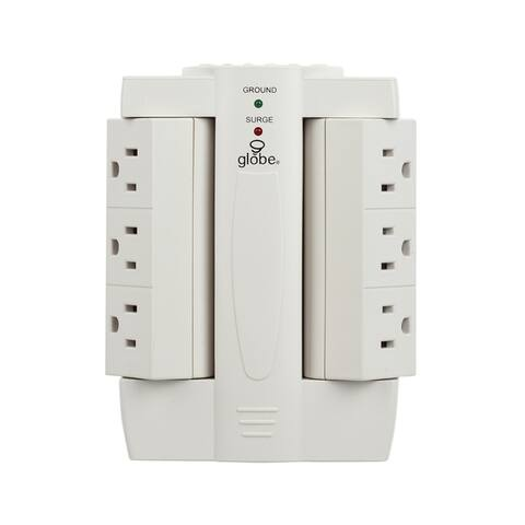 6-Outlet Swivel Surge Protector Wall Tap