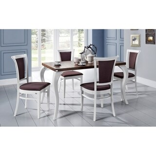 TERESSA Extendable Dining Table - Walnut/White