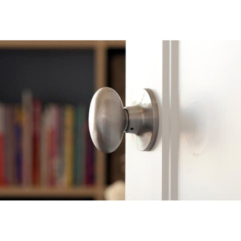 Sure-Loc Egg-shaped Passage Door Knob Pair (2 complete sets)