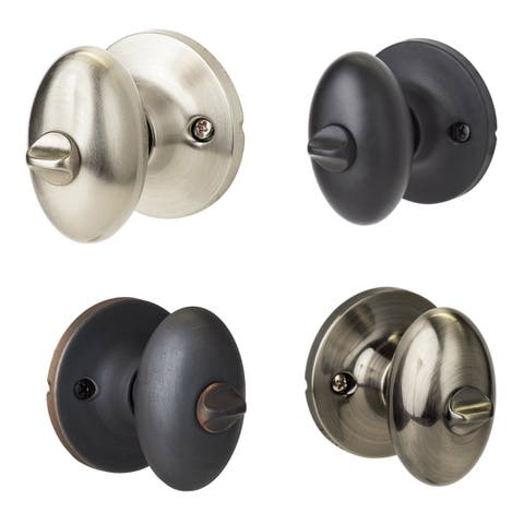 Sure-Loc Egg-Shaped Privacy Door Knob Pair (2 complete sets)