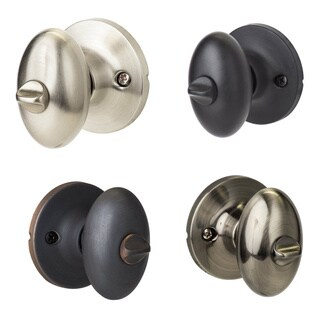 Sure-Loc Egg-Shaped Privacy Door Knob Pair (2 complete sets) (3 options available)