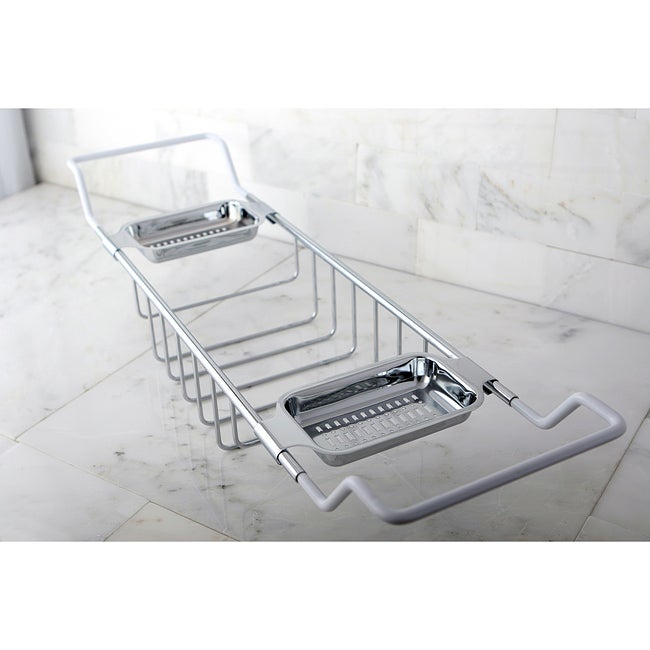 Chrome-plated Brass Tub Shelf - Free Shipping Today - Overstock ...