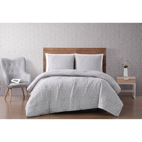 Carson Carrington Castlerock Woven Diamond 3-piece Comforter Set