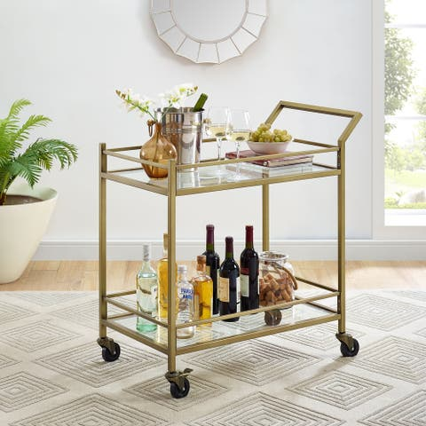 "Aimee Bar Cart - 35.5 ""W x 19 ""D x 36 ""H"