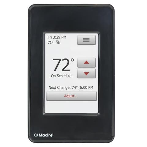 WarmlyYours nSpire Touch Programmable Thermostat (Black)