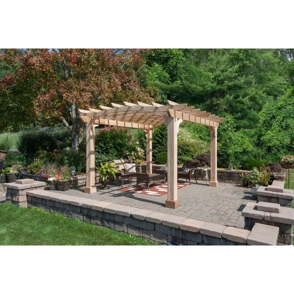 Shop 10x12 Wood Pergola Kit (8x8 Posts) - Ships To Canada
