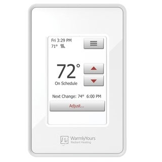 WarmlyYours nSpire Touch Programmable Thermostat (White)