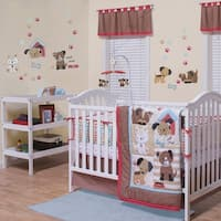 Puppy Play- Bed Set, 3 piece includes: 1 Comforter, 1 Fitted Crib Sheet, and 1 Bed Skirt