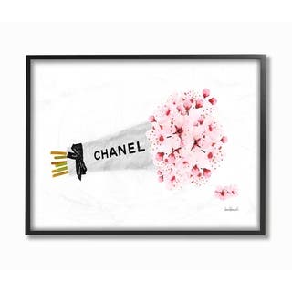 Silver Orchid Wrapped Cherry Blossoms Framed Art - Multi-Color
