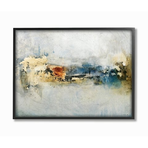 Porch & Den Distressed Neutrals Abstract Painting Framed Art - 11 x 14