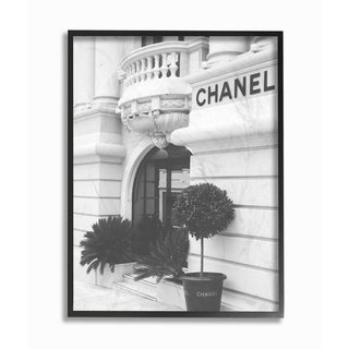 Silver Orchid Black and White High Fashion Store Front Framed Art - Multi-Color