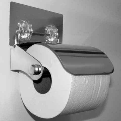 Evelots Toilet Paper Holder-New-Stainless Steel-Easy to Install-No Tools Needed