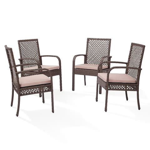 Tribeca Wicker Dining Chair in Driftwood (Set of Four)