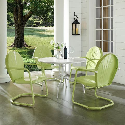 Griffith Key Lime 5 Piece Metal Outdoor Dining Set