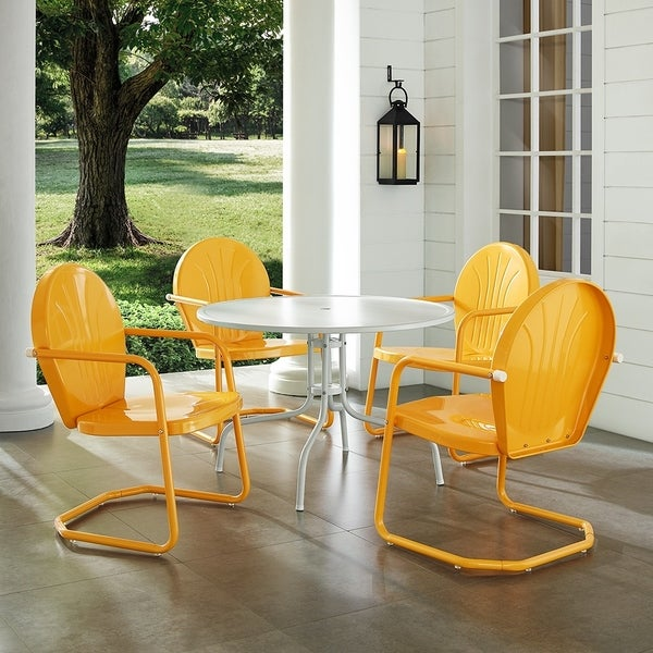 Shop Griffith Metal Five Piece Outdoor Dining Set - 39 ...