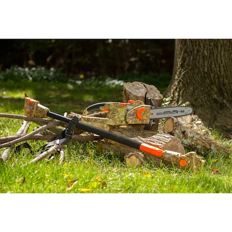 Earthwise Cordless 2 in 1 Convertible 40 Volt Camo Pole Chain Saw
