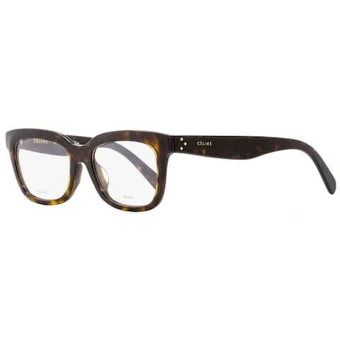 35e9c508197a4 Celine CL41390F 086 Unisex Dark Havana 52 mm Eyeglasses - Dark Havana