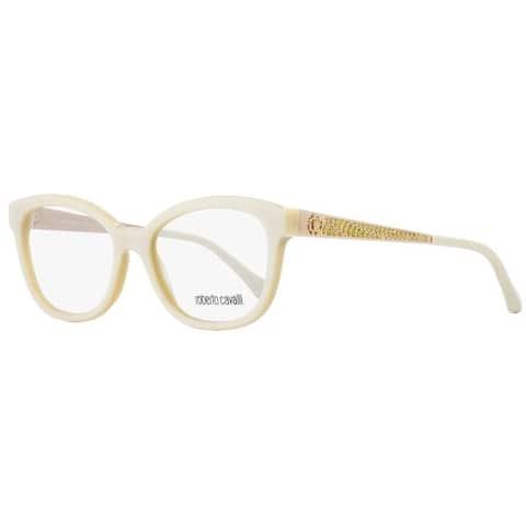 Roberto Cavalli RC859 Cursa 025 Womens Ivory/Gold 53 mm Eyeglasses