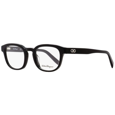 Salvatore Ferragamo SF2779 001 Mens Shiny Black 48 mm Eyeglasses - Shiny Black