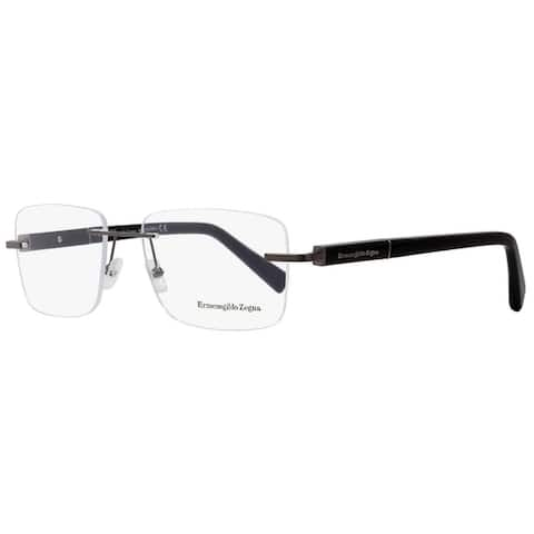 Ermenegildo Zegna EZ5035 008 Mens Gunmetal/Black 56 mm Eyeglasses