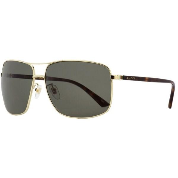 e884aee43b9 Shop Gucci GG0065SK 004 Mens Gold Havana 66 mm Sunglasses - Free ...