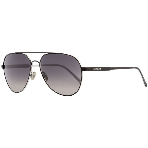 c0ca79f4f8b3 Shop Montblanc MB644S 02B Mens Matte Black/Palladium 60 mm Sunglasses -  Matte Black/Palladium - Free Shipping Today - Overstock - 26887088
