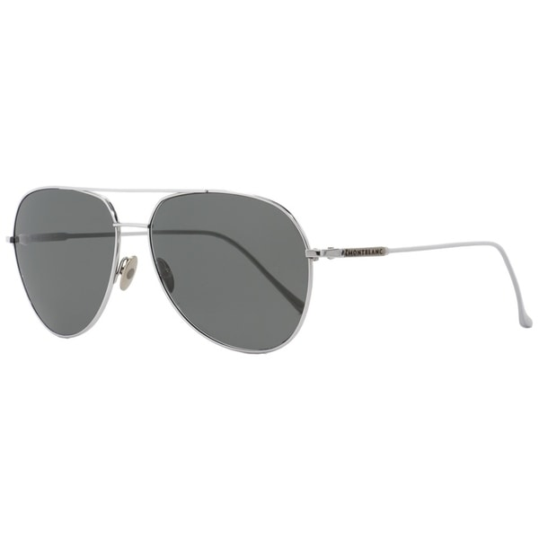 d862ec708d74 Shop Montblanc MB657S 16A Mens Palladium 61 mm Sunglasses - Free Shipping  Today - Overstock - 26887111