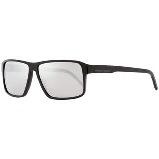 Porsche Design P8634 A Mens Shiny Black 58 mm Sunglasses - Shiny Black
