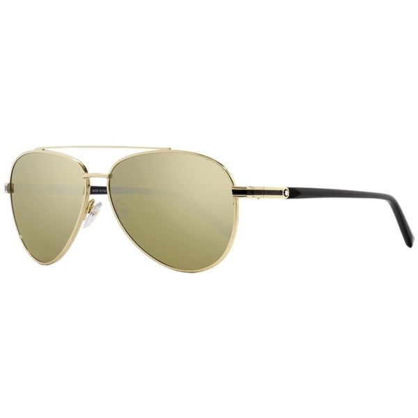 7e4afbf405e5 Shop Montblanc MB702S 32L Mens Gold/Black 59 mm Sunglasses - Free Shipping  Today - Overstock.com - 26887139
