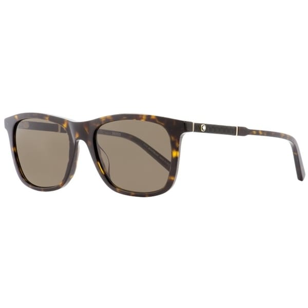 f657d6d9d5d5 Shop Montblanc MB606S 52E Mens Havana Gold 54 mm Sunglasses - Free Shipping  Today - Overstock - 26887147