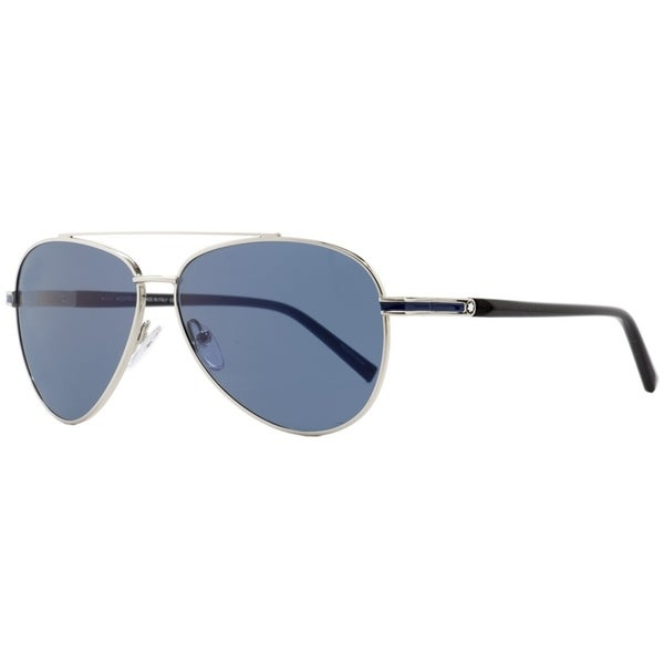 3b2ed2fcb Shop Montblanc MB702S 16V Mens Palladium/Black 59 mm Sunglasses - Free  Shipping Today - Overstock - 26887162
