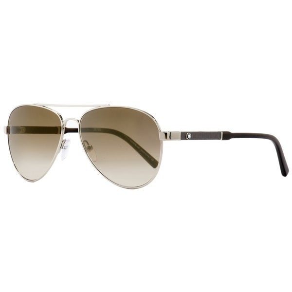 79a8c9ac3b Shop Montblanc MB645S 16F Mens Palladium Brown Horn 59 mm Sunglasses -  Palladium Brown Horn - Free Shipping Today - Overstock - 26887518