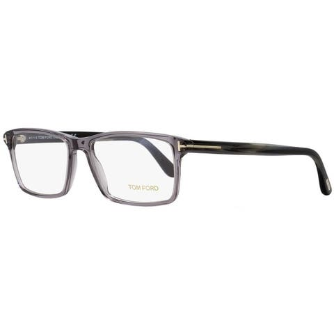 Tom Ford TF5408 020 Mens Transparent Gray/Horn 56 mm Eyeglasses - Transparent Gray/Horn