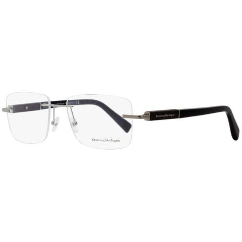 Ermenegildo Zegna EZ5035 014 Mens Ruthenium/Black 56 mm Eyeglasses