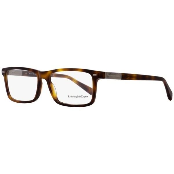 9559ccd086 Shop Ermenegildo Zegna EZ5046 052 Mens Dark Havana 57 mm Eyeglasses - Dark  Havana - Free Shipping Today - Overstock - 26887875