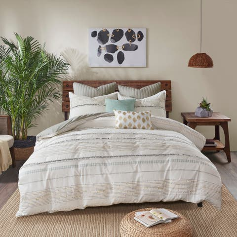INK+IVY Nea Multi Cotton Printed Comforter Set with Trims