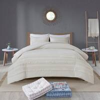 Madison Park Joelie Ivory Cotton Seersucker Comforter Set