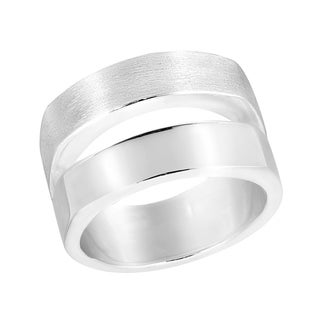 Handmade Modern Elegance Double Band Of Sterling Silver Ring Thailand
