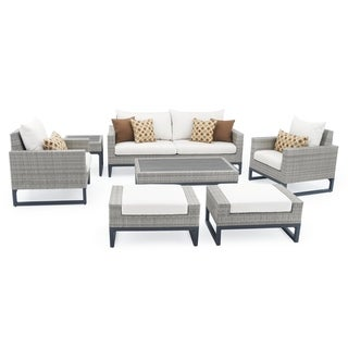 Milo 7pc Grey Deep Seating Set in Moroccan Cream by RST Brands