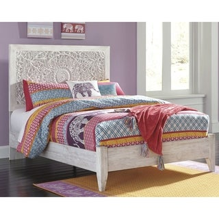 Paxberry Whitewash Panel Bed