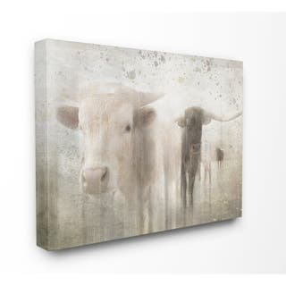 The Gray Barn Distressed Surface Rustic Cow Pasture Canvas Wall Art