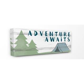 Porch & Den 'Adventure Awaits' Camping Scene Canvas Wall Art