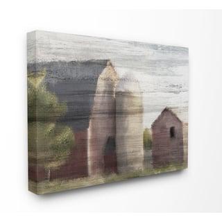 The Gray Barn Rustic Barn Painting Canvas Wall Art