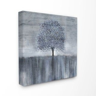 The Stupell Home Decor Neutral Grey Spotted Tree with Streaky Foreground Canvas Wall Art, 17 x 17, Proudly Made in USA
