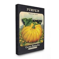 The Stupell Home Decor Aged Paper Vintage Pumpkin Seed Package Canvas Wall Art, 16 x 20, Proudly Made in USA - Multi-Color