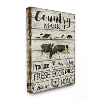 The Gray Barn Farmhouse Planked Country Market Sign Canvas Wall Art
