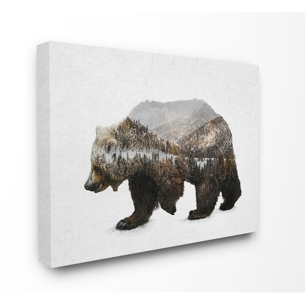 The Gray Barn Bear Silhouette Mountain Range Canvas Wall Art - Multi-Color. Opens flyout.