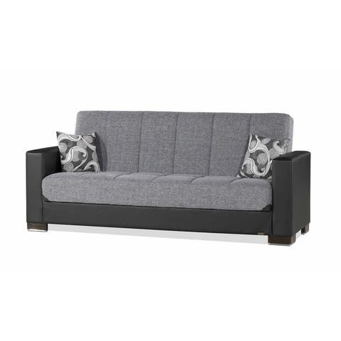Armada Fabric Uphostery Sofa Sleeper Bed with Storage - 88 W x 38 H x 37 D