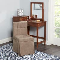 Jennifer Tufted Vanity Seat with High Back
