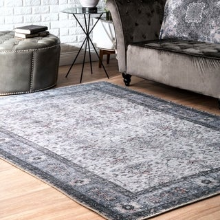 Porch & Den Tchulahoma Faded Bloom Border Area Rug